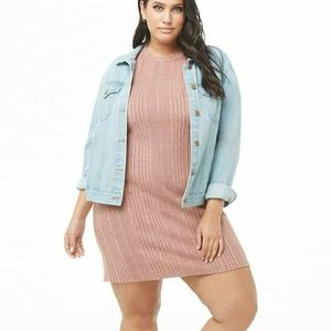 Forever 21+ blush pink sweater dress 0x